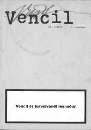 : Vencil : tíðarrit fyri skaldskap á føroyskum. 2008, nr. 4 (2. árgangur)